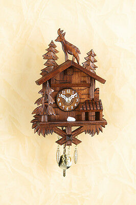 Beautiful Pendulum Clock Kuckulino with Cuckoo,Quartz Movement,Black Forest