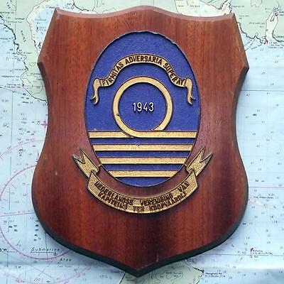 OLD Merchant Navy Dutch Ship Owners  MASTER MARINERS Ship Crest Shield Plaque B