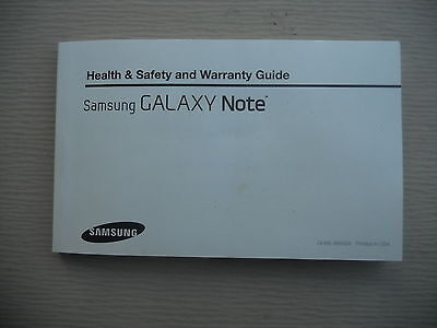 SAMSUNG GALAXY NOTE Health and Safety Manual