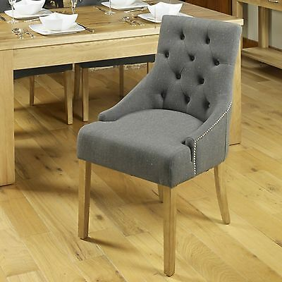 Mobel solid oak modern furniture set of four flare back luxury dining chairs
