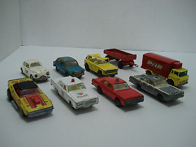MATCHBOX SUPERFAST LOT OF 9 VEHICLES MADE IN ENGLAND 1970's VINTAGE