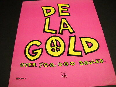DE LA SOUL is De La Gold over 700,000 Souled ORIGINAL 1989 Promo Poster Ad