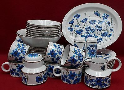 MIDWINTER china SPRING pattern 47 Piece Set  cup/dinner/bread/cereal/platter