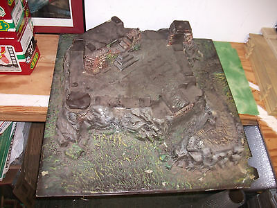 """Mid-Evil  Castle with Mote ( Large 29"""" x 29"""" x 9"""" high ) Made of Hard Plastic."""