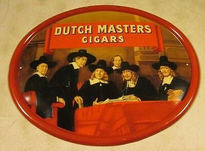 Vintage Antique Tin Metal Dutch Masters Cigars Oval Advertising Sign USA