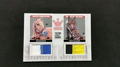2012 Secretariat Seattle Slew Dual Used Racing Silks Patch RARE Kentucky Derby