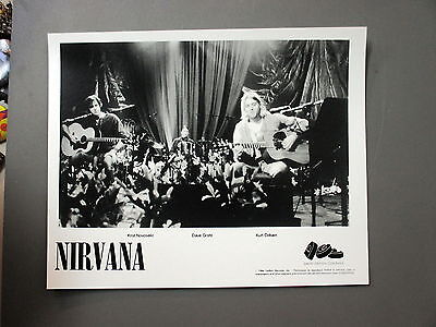 Nirvana promo photo 8 X 10 matte finish blk & white Kurt Cobain 1994 Unplugged !