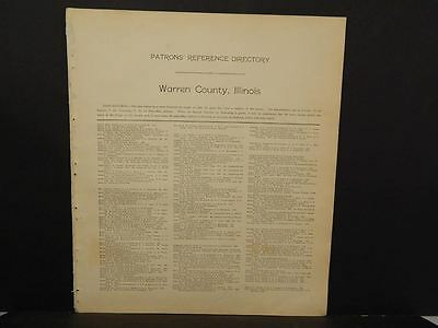 Illinois Warren County Map Patron's Reference Directory 1912   L9#24