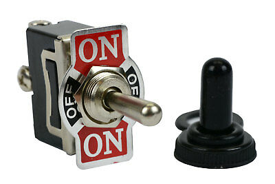 TEMCo 20A 125V (ON)-OFF-(ON) SPDT 3 Terminal Toggle Switch Momentary + Boot