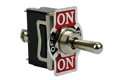 TEMCo Heavy Duty 20A 125V ON-OFF-(ON) 3 Terminal Toggle Switch Momentary