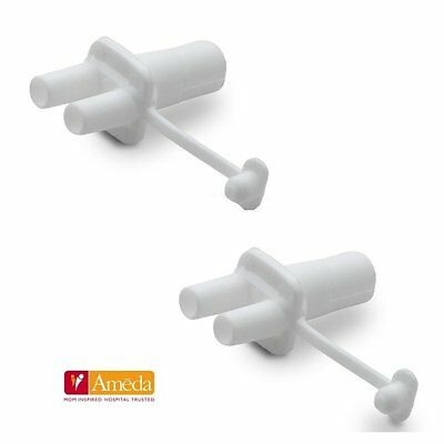 Ameda Tubing Adapters Breast Pump Replacement Part Platinum Purely Yours - 2 pk