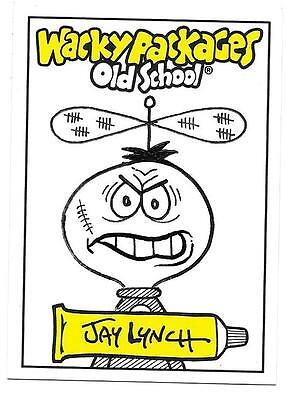 JAY LYNCH SKETCH CARD  2009 Wacky Packages Old School Series 1   1/1