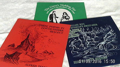 3 x Lincolnshire Folk/Poetry LP's VERY RARE & OBSCURE 1969-1971