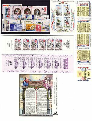 Timbres France Neufs Annee Complete Luxe 1989