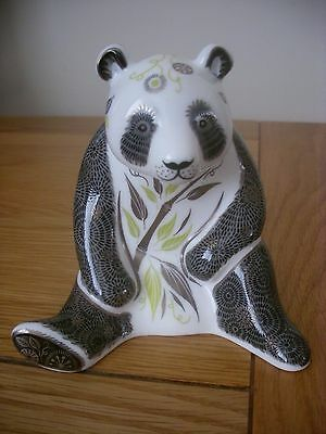 """Royal Crown Derby Paperweight """"midnight Panda"""" 2Nd Lovely Figure"""