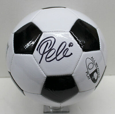 Pele Signed Autographed Soccer Ball Franklin Ball Brazil Psa/dna Ac97002