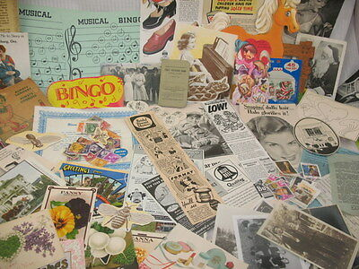 LOT of Vintage EPHEMERA POST CARDS  ADVERTISING PHOTOS CLIPPINGS ETC  ~107C7