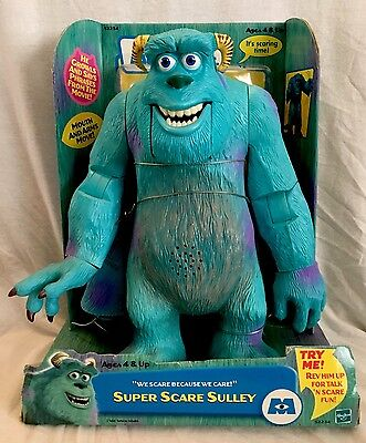 """2001 Vintage Monsters Inc. """"SUPER SCARE SULLEY"""" Large Figure NEW IN BOX #52243"""