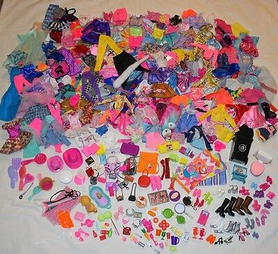 HUGE LOT Barbie/Ken Fashion Clothing Clothes/Accessories OVER 350 PIECES