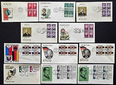 11 Philippines First Day Covers From 1963 '65 '67