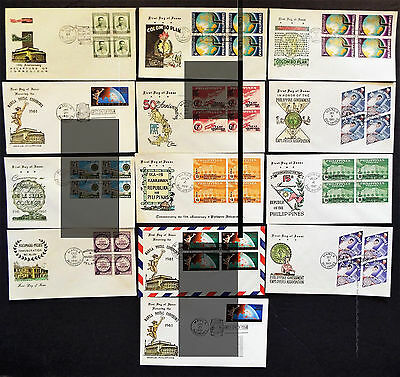 14 Philippines First Day Covers From 1961