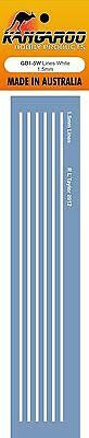 Model Decal White  lines 1.5mm thick high quality Screen Printed waterslide