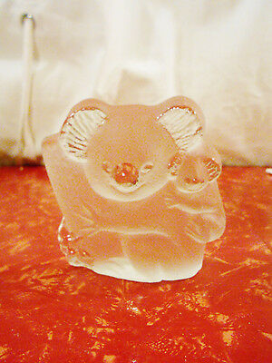 Viking Glass Paperweight Koala Bears Table Decor or Paperweight