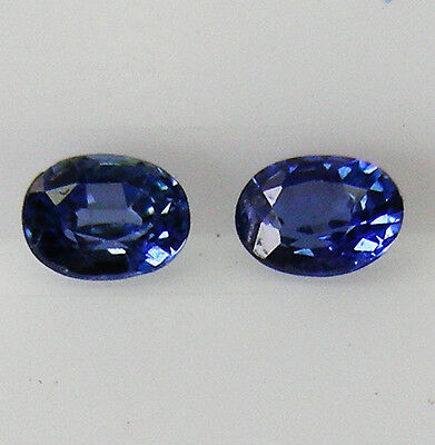 0.26ct!! NATURAL BLUE SAPPHIRE MATCHING PAIR EXPERTLY FACETED IN GERMANY +CERT
