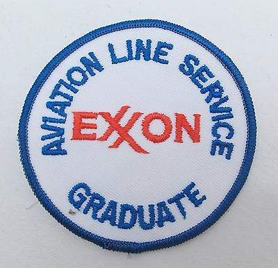 Vintage EXXON AVIATION LINE SERVICE Graduate Training Patch Gas Oil Unused