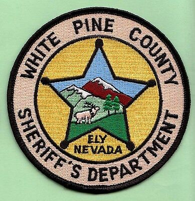 J15 *#1 White Pine County Sheriff Dept Ely Nevada State Police Swat Patch Fbi