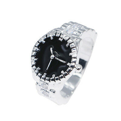 Creative Women Cute Pocket Finger Ring Watch Round Case Party Jewelry Rapture