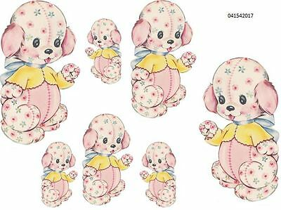 PinK PaTcHwoRk NuRSeRY TeDdY BeaR SHaBbY WaTerSLiDe DeCALs TRaNsFeRs