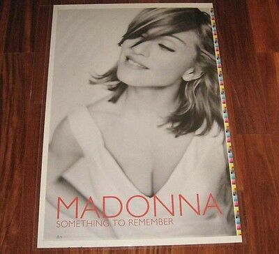 Madonna SOMETHING TO REMEMBER Rare 1995 Promo Poster Printer's Proof Pre-Cut