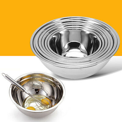 Stainless Steel Mixing Bowl For Kitchen Cook Baking Fruit Salad Bakeware Dough