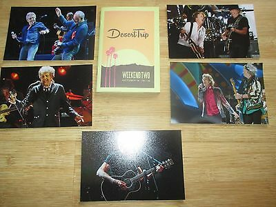 Desert Trip Photo Set Booklet Guide Roger Waters Rolling Stones The Who Mint