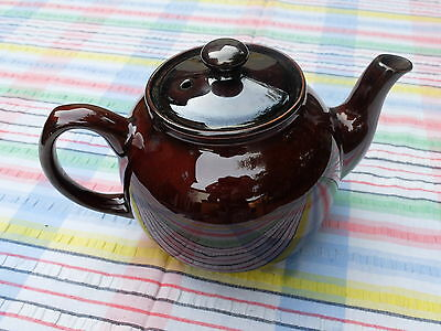 Vintage Brown Teapot - Nice Shiney Lustre