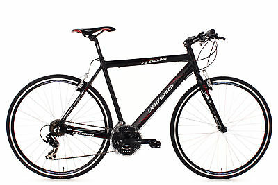 Fitness Speed Bike 28'' Rennrad Lightspeed Schwarz Alu Ks Cycling M200B