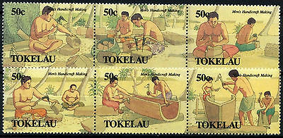 Tokelau 1990 SG#183-8 Mens Handicrafts MNH Set #D49889