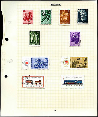 Bulgaria Album Page Of Stamps #V4614