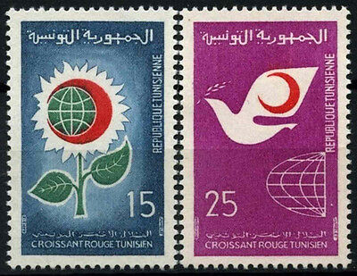 Tunisia 1968 SG#674-5 Red Crescent Day MNH Set #D49409