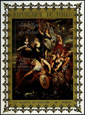 Chad 1970's Rubens Paintings MNH M/S #D49496