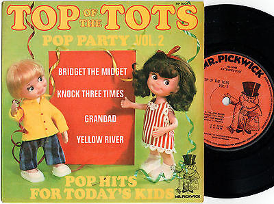 "Top Of The Tots Pop Party Vol. 2 (17090) 7"" EP 1971 Mr. Pickwick MP 9034"