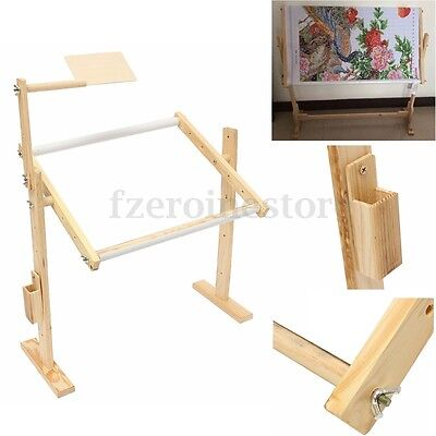 2 Sizes Wooden Embroidery Cross Stitch Tapestry Frames Floor Stand Tabletop