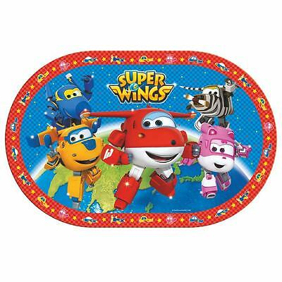 Super Wings - Mantel Ovalada Estera de Tabla 28 x 43 cm