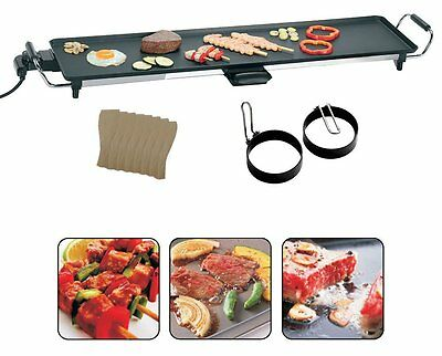 XXXL Electric Teppanyaki Table Top Grill Griddle BBQ Barbecue Camping & Spatulas