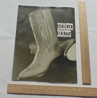 HONDO BOOTS - Western Cowboy Boots - Two-Sided Poster Advertisement