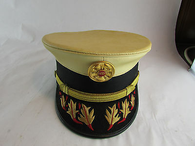 Vintage Fire Chief Formal Dress Hat With Pin & Visor - Fire Department Fireman