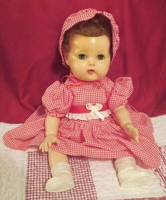 """Vintage American Character 15"""" Tiny Tears~Rock-A-Bye Eyes~New Clothes~Vgc"""