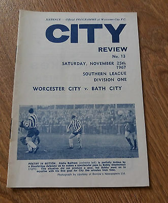 Worcester City V Bath City  1967