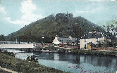 View from the Caledonian Canal TOMNAHURICH Scotland UK A. Walker Postcard